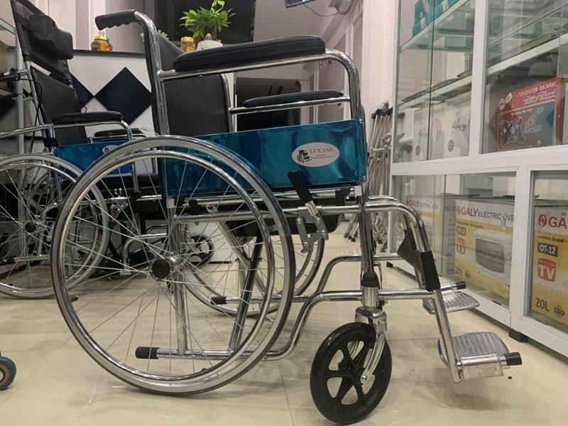Hình ảnh thực tế của xe lăn Lucass X8 tại Thiết bị y tế Phương Mai