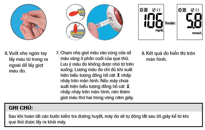 Hướng dẫn sử dụngmáy đo đường huyết Accu Chek Performa