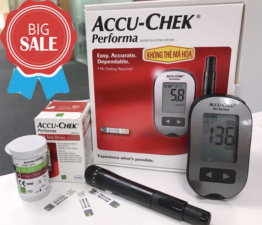 Tính năng nổi bật của máy đo đường huyết Accu Chek Performa