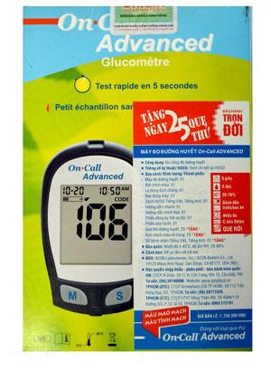 Máy đo đường huyết On Call Advanced