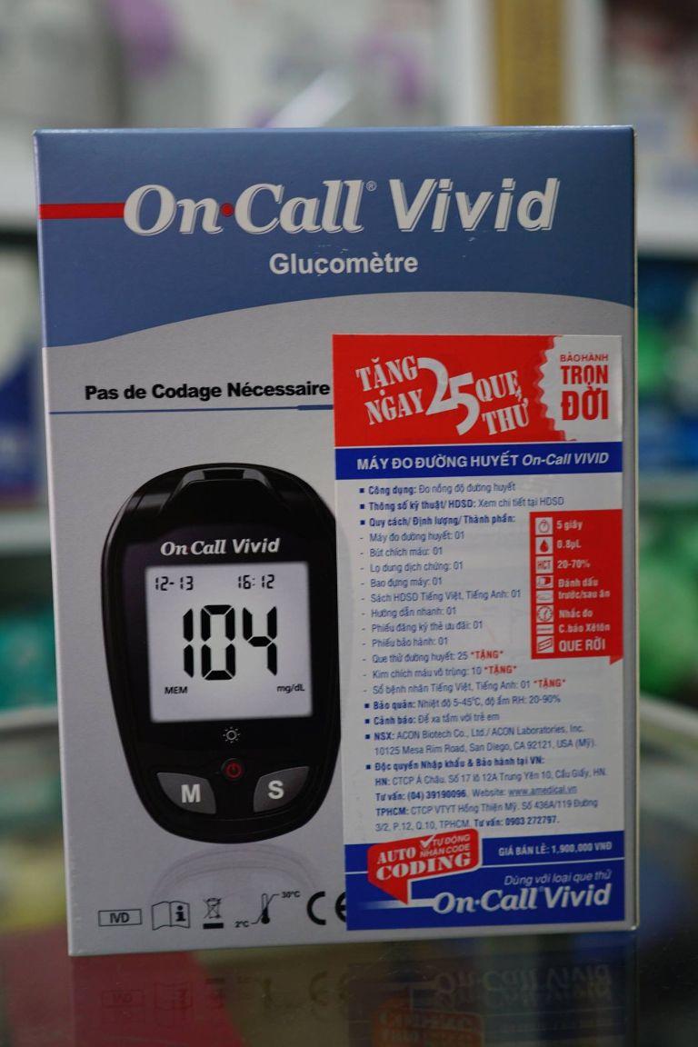 máy đo đường huyết Acon On-CallVivid: