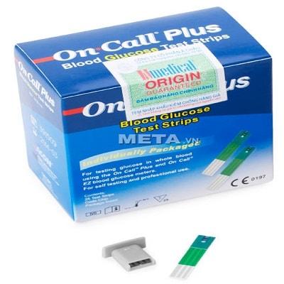 Que thử của máy đo đường huyết On Call Plus (hộp 25 que)