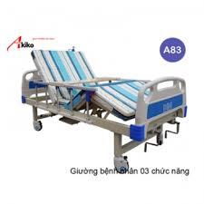 Giường bệnh nhân 2 tay quay Akiko A83 có bô, bàn ăn