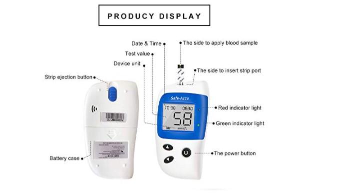 cấu tạo máy đo đường huyết Safe-Accu 2