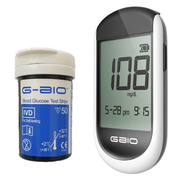 Máy đo đường huyết GBIO - M.I.TECH của Hàn Quốc