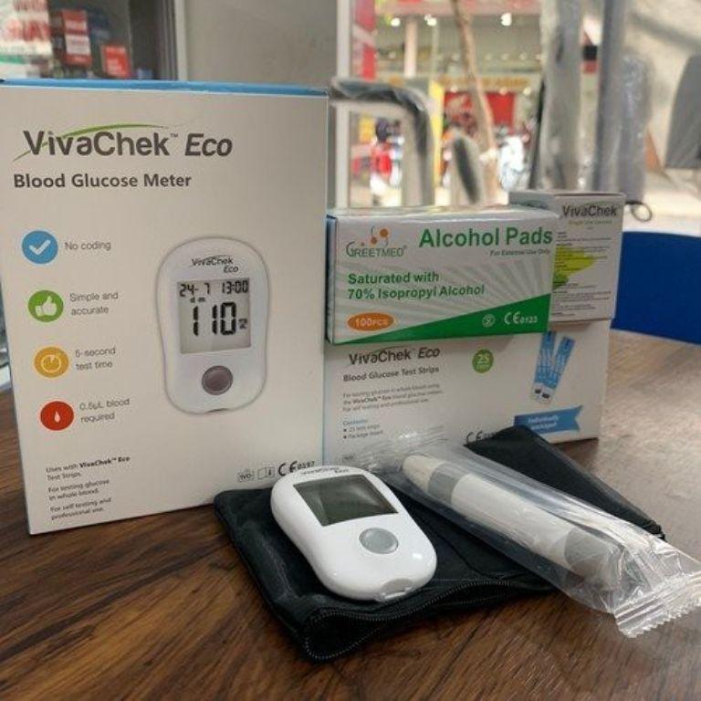 bộ sản phẩm đo đường huyết VivaChek Eco