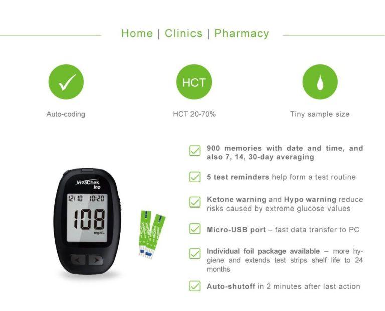 Ưu điểm của máy đo đường huyết Vivacehk Ino