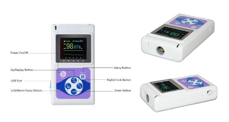máy đo nồng độ oxy và nhịp tim Spo2