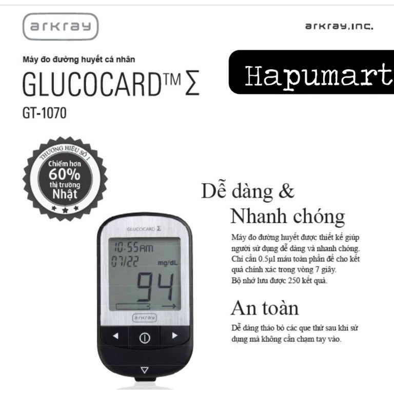 Giới thiệu về máy đo đường huyết Arkray GlucoCard