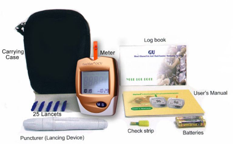 Hướng dẫn sử dụng máy đo đường huyết 3 trong 1 EasyMate GCU