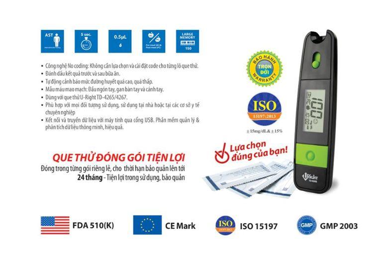 Công dụng của máy đo đường huyết U - Right TD 4265