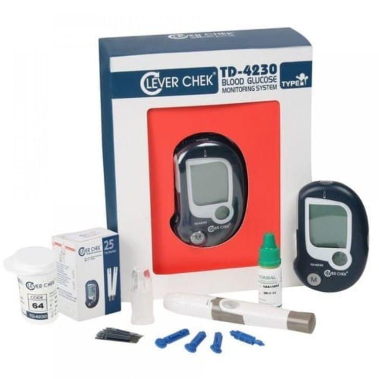 Hướng dẫn sử dụng máy đo đường huyết Clever Check TD 42302