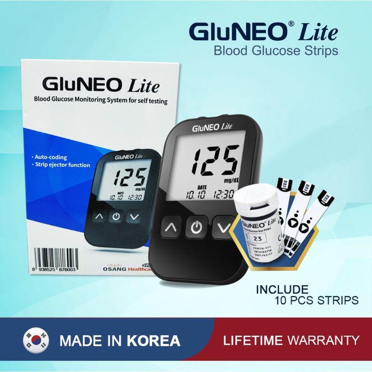 Giới thiệu máy đo đường huyết GluNEO Lite