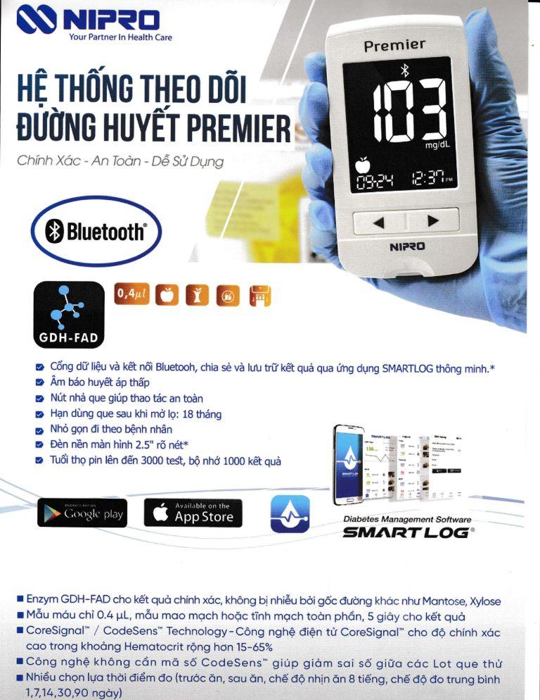 Máy đo đường huyết Nipro Premier α