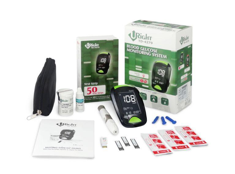 bộ sản phẩm ISO máy đo đường huyết U-right TD 4279