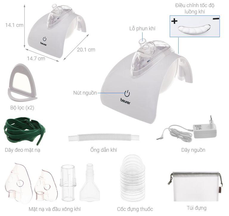 Giới thiệu máy xông mũi họng Beurer IH40