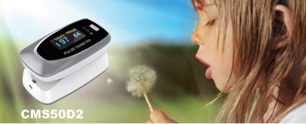 Máy đo nồng độ oxy trong máu Contec CMS50D2