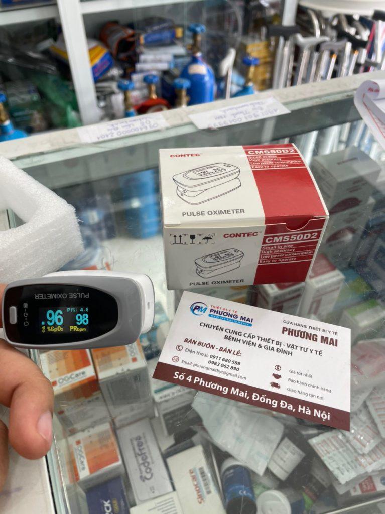 Máy đo nồng độ oxy trong máu Contec CMS50D2 với thiết kế đẹp, bắt măt, độ chính xác cao