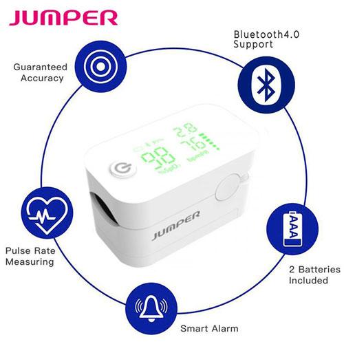 Máy đo nồng độ oxy và nhịp tim Jumper JPD - 500G với kết nối bluetooth 4.0